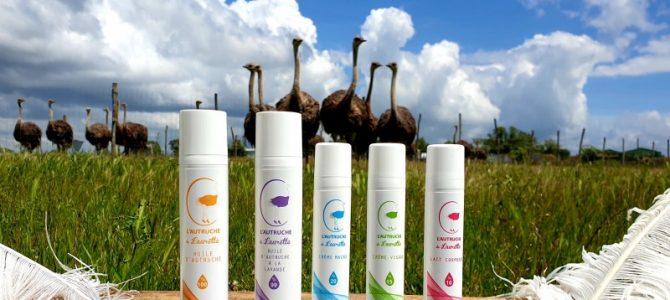 Découvrez nos cosmétiques à    l'huile d'autruche